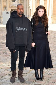 Stars attend Paris Fashion Week fall/winter 2015///   What's wrong with this picture?   Kanye's in it.