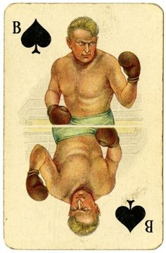 Boxing, Amsterdam 1928 | Flickr - Photo Sharing! Printable Playing Cards, Playing Cards Art, Vintage Playing Cards, Divination Cards, Tarot Cards, Manado, Football Cards, Baseball Cards, Jack Of Spades
