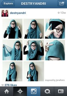 I have collected hijab styles step by step tutorial. It consists of steps required to wear beautiful hijab styles. These steps for hijab styles are easy. Square Hijab Tutorial, Simple Hijab Tutorial, Hijab Style Tutorial, Islamic Fashion, Muslim Fashion, Hijab Fashion, Hijab Outfit, Hijabs, Lehenga
