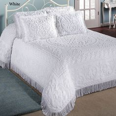 Cotton Chenille Medallion Bedspread Bedding