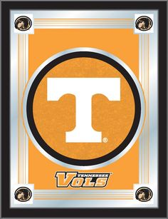 """Tennessee Volunteers 17 x 22"""" Framed Litho Color Logo Wall Mirror"""