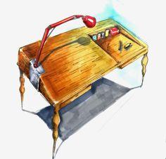 teknik çizim ve boyama masası