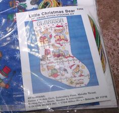 """Design Works LITTLE CHRISTMAS BEAR Stocking Counted Cross Stitch Kit 17"""""""