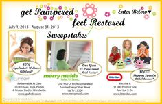 Get Pampered And Feel Restored Sweepstakes - From Little Tikes I NEED PAMPERING!!!!!!!!!!!