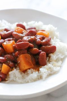 Quick Puerto Rican Style Beans –an easy side dish, ready in about 25 minutes! Smart Points: 3 Calories: 134