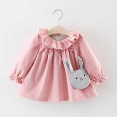 Cheap baby dress, Buy Quality little baby dresses directly from China girl baby dress Suppliers: R&Z Baby Girls Dresses 2017 Autumn Lovely Long-sleeved Lotus Leaf Collar Pocket Doll Dress + Bag Kids Children Clothing