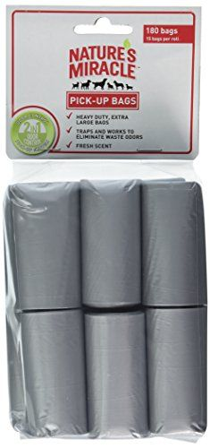 Nature's Miracle Advanced Pick-up Bags Antimicrobial Fresh Scent 360-Bags, (24 Rolls of 15 bags) ** You can find more details by visiting the image link.