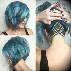 Beautiful color, undercut with glittery and the style is nice for this summer.