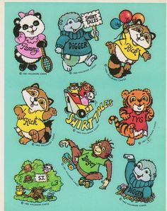 72 fun characters Critter Sticker Collection