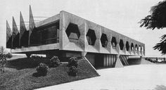 João Filgueiras Lima Residence for the Minister of State 1965 Brasilia. Architecture Old, Architecture Drawings, Historical Architecture, Amazing Architecture, Architecture Details, Concrete Architecture, Brutalist Buildings, Modern Buildings, Concrete Structure