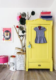 Cores vibrantes no quarto de criança: que amor!