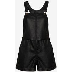 rag & bone/JEAN Leather Short Overalls: Black found on Polyvore #ShopPolyvore for lollapalooza