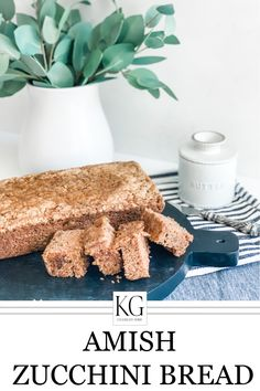 Try this signature Amish Zucchini Bread recipe for a bruch, breakfast, or special event. It's a crowd pleasing favorite!  Amish Zucchini Bread - Krista Gilbert