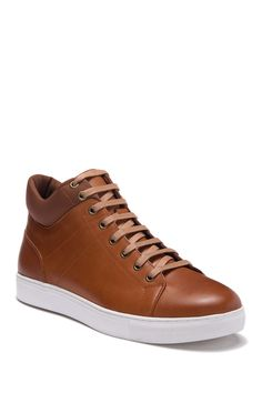 French Connection Alexander Mid Sneaker In Tan High Top Sneakers, Shoes Sneakers, French Connection, Lace Up, Nordstrom, Mens Fashion, Shopping, Style, Loafers & Slip Ons