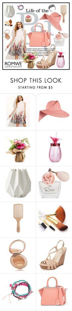 """Print Dress"" by edin-levic ❤ liked on Polyvore featuring Eugenia Kim, Slant, Menu, Dana, Philip Kingsley, La Mer, Seychelles, H&M and Fendi"