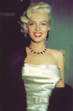 Marilyn Monroe at a Cinemascope party at the Ambassador Hotel on January 1, 1953.