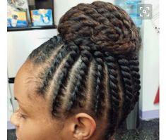 Flat twist bun updo - Home Natural Hair Twist Out, Natural Hair Updo, Natural Hair Care, Natural Hair Styles, Scene Hair, Love Hair, Great Hair, Twisted Hair, Flat Twist Updo