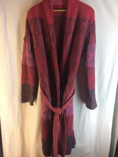 nice OILILY measurement small open cardigan sweater purple pink maroon preowned lengthy