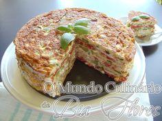 Bolo de omelete com legumes | O Mundo Culinario de Bia Flores