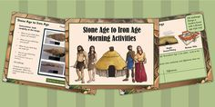 1 Week Stone Age to Iron Age Morning Activities PowerPoint - Twinkl Morning Activities, History Activities, Iron Age, Prehistory, Curriculum, Something To Do, Teaching, Stone, Children