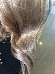 Molten metal inspiered hair Ash gold hair Shiny Healthy hair
