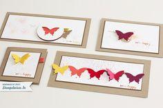 Schlichte Schmetterlinge