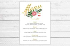 Floral Menu by Writefully Simple
