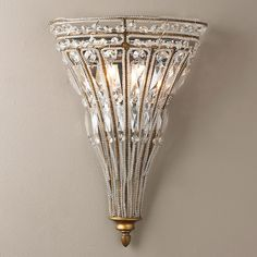 French Empire Crystal Tapered Sconce