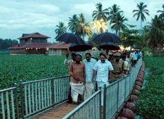 team visiting veli tourist village