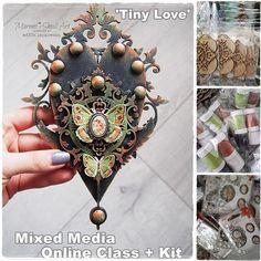 Tiny Love- Mixed Media Online Class + products KIT