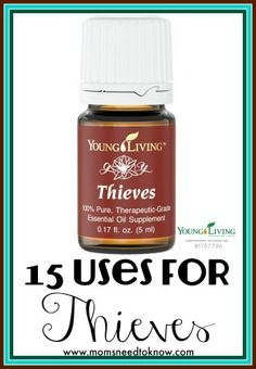 """We are continuing in our series about how to use essential oils and Thieves oil has got to be one of the top 5 """"miracle oils"""" that I use each and every day! If you had to choose one essential oil to use to promote good health, then Thieves would be it! Find out more …"""