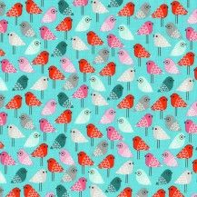 Kokeshi Birdies - Sweet by ROBERT KAUFMAN
