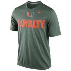 Mens Miami Hurricanes Nike Green Loyalty Dri-FIT T-Shirt