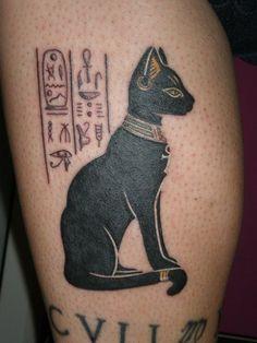 ideas tattoo antebrazo egipcio for 2019 Egyptian Cat Tattoos, Egyptian Cats, Body Art Tattoos, New Tattoos, Cool Tattoos, Script Tattoos, Arabic Tattoos, Dragon Tattoos, Ankle Tattoos