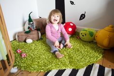 "Add a little ""grass"" in toy corner...."