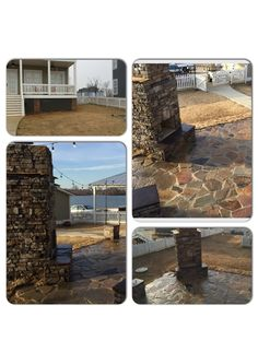 Before & After Stone Fireplace & Paver Patio The Waters Southern Hardscapes