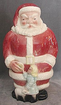 Vintage Rare Full Figure Santa Cookie Jar