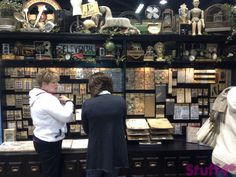 Does he ever stop?? Look at all that amazing product! Gotta' love him! - Tim Holtz. CHA 2013