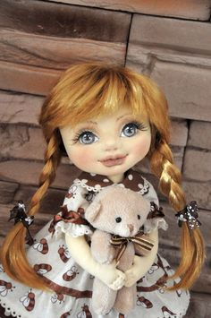 Textile doll decorative doll collector dolls doll by Neonila1