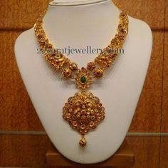 Jewellery Designs: Nakshi Necklace by Naj Jewellers