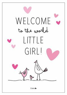 Birth of a baby girl quality embossed congratulations card ma064 new baby girl thecheapjerseys Images