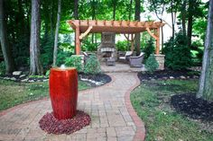 outdoor vase water fountains | Klein's Lawn & Landscaping | Water Features | Custom Water Features