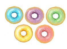 Rainbow Donuts by potatopug