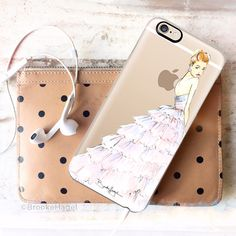 Brooke Hagel Suki (in Burberry) fashion illustration, as a #Casetify phone case.