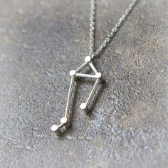 Libra Zodiac Sign Halskette / Silber Messing oder von laonato