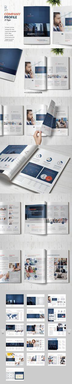 Company Profile Business Brochure  Template INDD, PDF