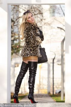 AROLLO Thigh High Boots Stiletto Roma worn by Monique Montiniere http://www.arollo.net https://www.facebook.com/Monique.Montiniere?fref=ts