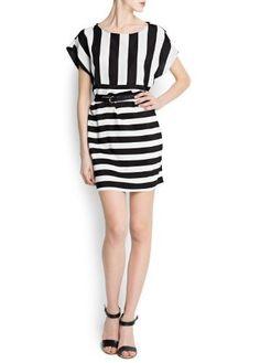Mango Womens Striped Dress With Braided Belt, Black, 6 MANGO,http://www.amazon.com/dp/B00C7RIMNG/ref=cm_sw_r_pi_dp_56RIrb7601D34085