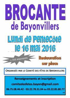 affiche BROCANTE LUNDI DE PENTECÔTE LE 16 MAI 2016