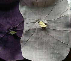 연잎다포 nice pintucks on translucent linen Textile Prints, Textiles, Fabric Board, Korean Traditional, Fabric Manipulation, Quilt Blocks, Fiber Art, Hand Sewing, Print Patterns